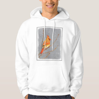Cardinal on Branch Hoodie