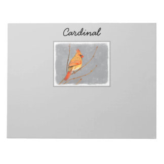 Cardinal on Branch Notepad