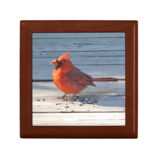 Cardinal on Bridge Wood Gift Box