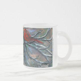 """Cardinal on the Elk"" Frosted Mug"