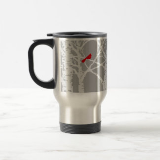 Cardinal on tree branch. Travel mug. Durable. Travel Mug