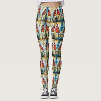Cardinal Pairs Patterned Leggings