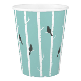 Cardinal Pattern Paper Cup
