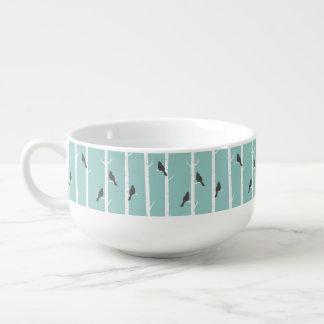 Cardinal Pattern Soup Mug