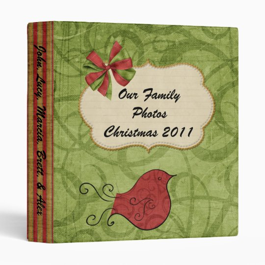 Cardinal Personalized Christmas 2010 Binder