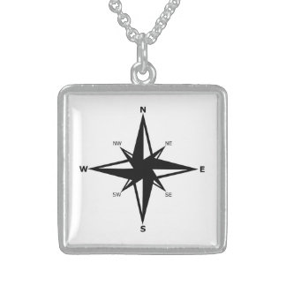 cardinal points sterling silver necklace