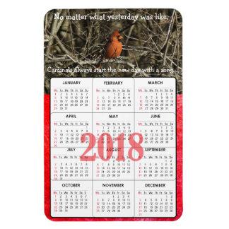 Cardinal Quote 2018 Calendar Magnet