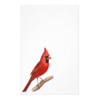Cardinal Red Bird Male Stationery