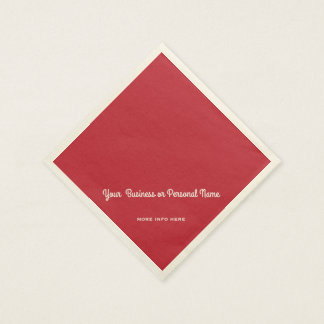 cardinal red solid color disposable napkin