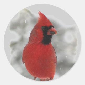 Cardinal Round Sticker