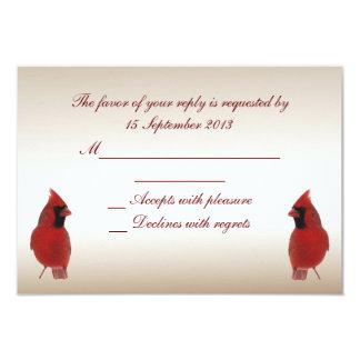Cardinal RSVP Wedding Card