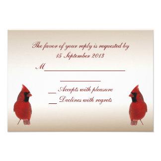 Cardinal RSVP Wedding Custom Invitations