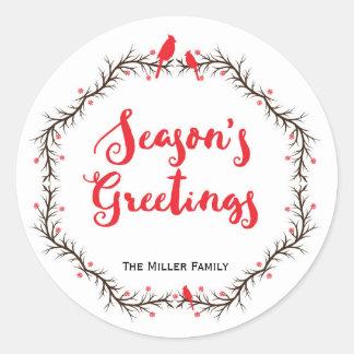 Cardinal Season's Greetings Sticker