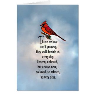 "Cardinal ""So Loved"" Poem Card"