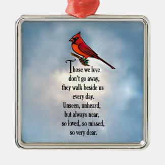 "Cardinal ""So Loved"" Poem Metal Ornament"