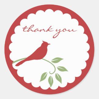 Cardinal Sticker - Thank You