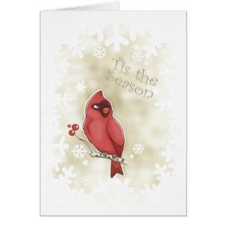 Cardinal Tis the Season Card