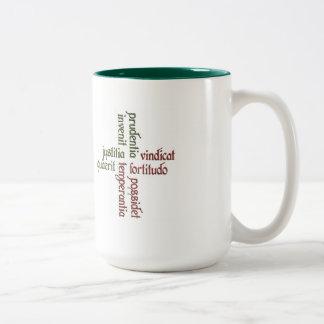 Cardinal Virtues 2-tone mug
