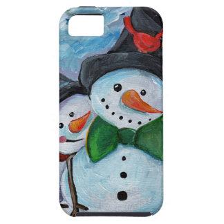 Cardinal visiting Snowmen iPhone 5 Cases
