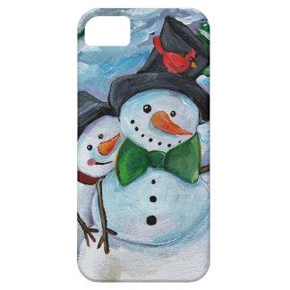 Cardinal visiting Snowmen iPhone 5 Cover