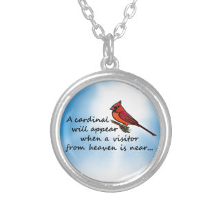 Cardinal, Visitor from Heaven Silver Plated Necklace