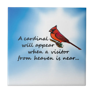 Cardinal, Visitor from Heaven Tile