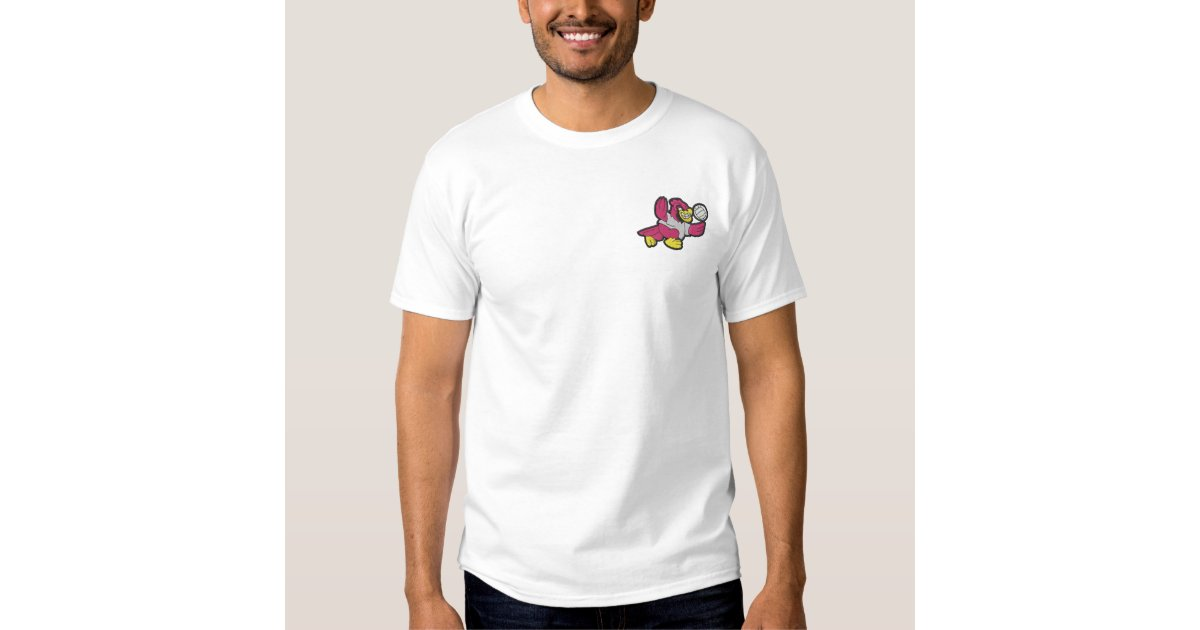 Cardinal volleyball embroidered t shirt zazzle