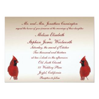 Cardinal Wedding Card