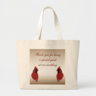 Cardinal Wedding Favor Large Tote Bag