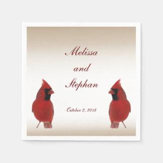 Cardinal Wedding Napkin