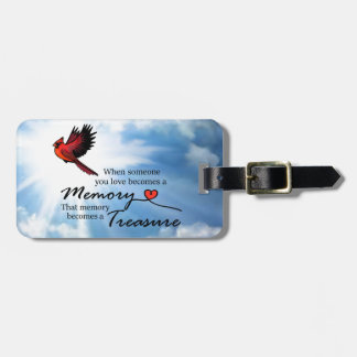 """Cardinal """"When someone you love"""" Bag Tag"""