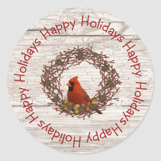 Cardinal Wreath Sticker