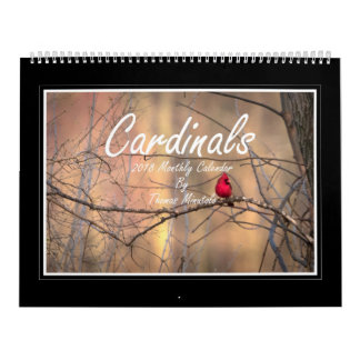 Cardinals 2018 Monthly Calendar By Thomas Minutolo