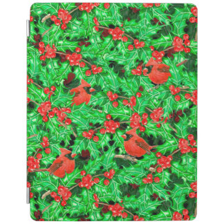 Cardinals and holly berry iPad cover