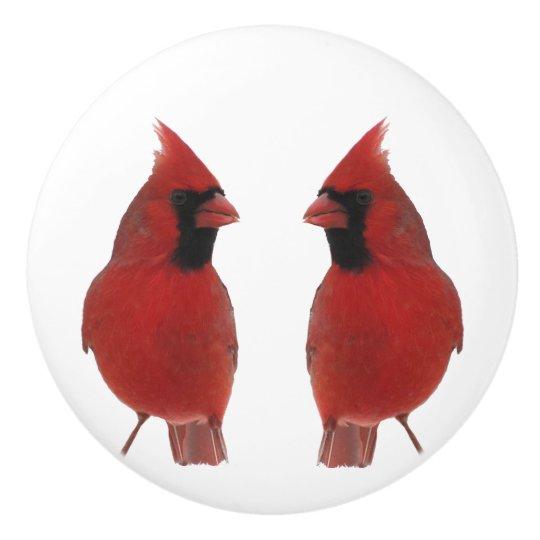 Cardinals Ceramic Knob