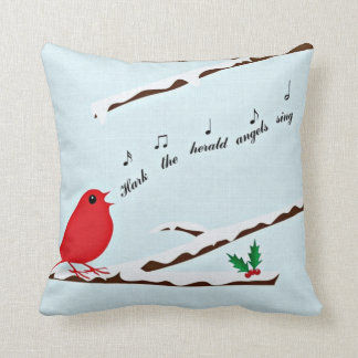 Cardinal's Christmas Carol Linen-look Pillow