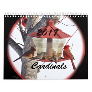 Cardinals for 2017- change year as needed wall calendars