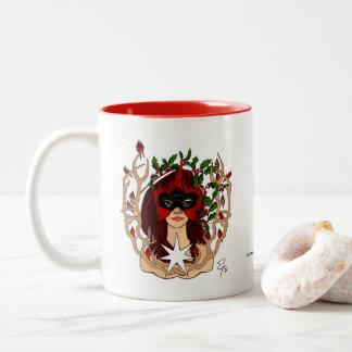 Cardinals & Holly Holiday Mug