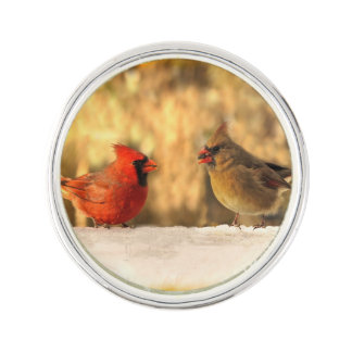 Cardinals in Autumn Lapel Pin