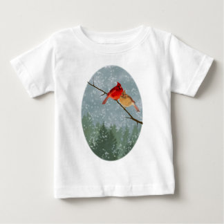 cardinals in winter baby T-Shirt