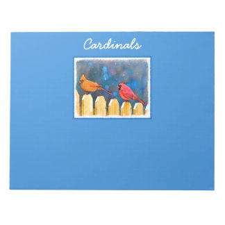 Cardinals on the Fence Notepad