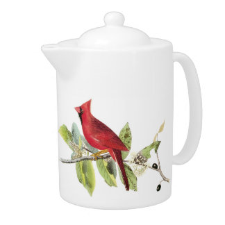 Cardinals Tea Pot