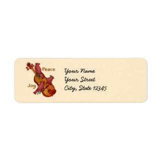 Cardinals Violin address labels