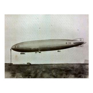 Cardington, Airship R33 Postcard
