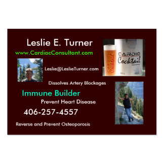 Cardio Cocktail - Healthy Heart Large Business Card
