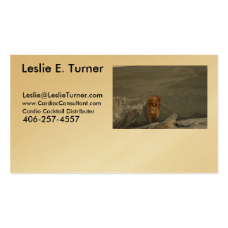 - Cardio - Cocktail - Leslie E. Turner - Business Card Template