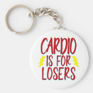 Cardio is for losers keychain