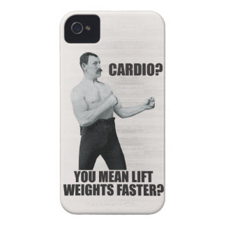 Cardio - Lift Weights Faster - Overly Manly Man iPhone 4 Case