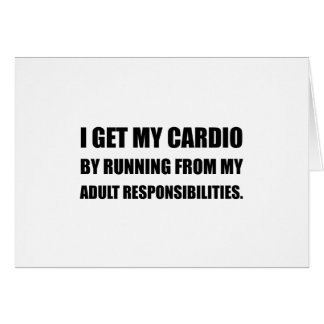 Cardio Running From Responsibilities Card