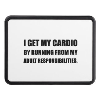 Cardio Running From Responsibilities Tow Hitch Cover